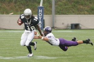 Georgetown Falls to No. 25 Holy Cross in Opener