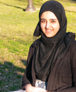 LEONEL DE VELEZ/THE HOYA The decision to begin college early brings a unique set of challenges for younger-than-traditional students like Wardah Athar (COL '13), who received her Georgetown acceptance letter at the age of 16.