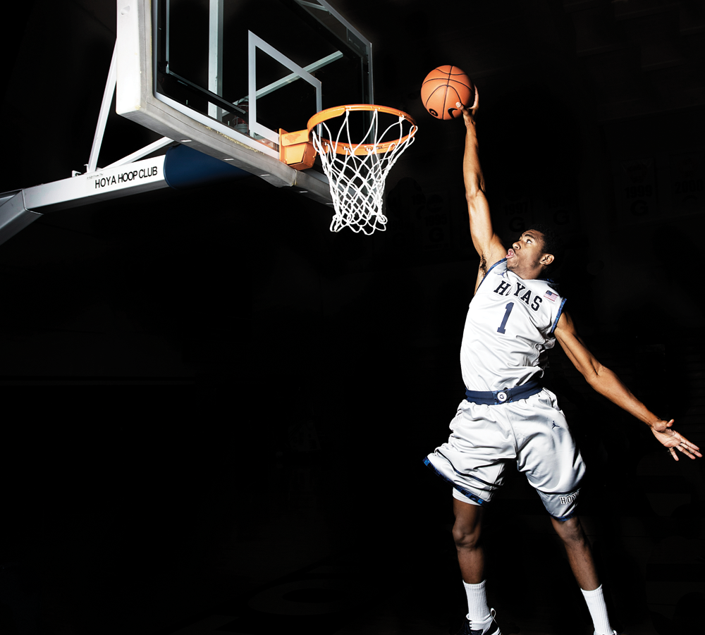 CHRIS BIEN/THE HOYA Hollis Thompson is the most efficient three-point shooter in Georgetown history.