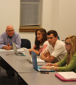 """ONNOR BERNSTEIN FOR THE HOYA Students in """"Kenya: Clean Water Project"""" discuss plans for H2OYAS."""