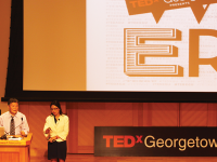 """FILE PHOTO: AMY LEE/THE HOYA The theme of TEDx Georgetown's second annual conference, held in Sept. 2012, was """"Power 2020."""""""