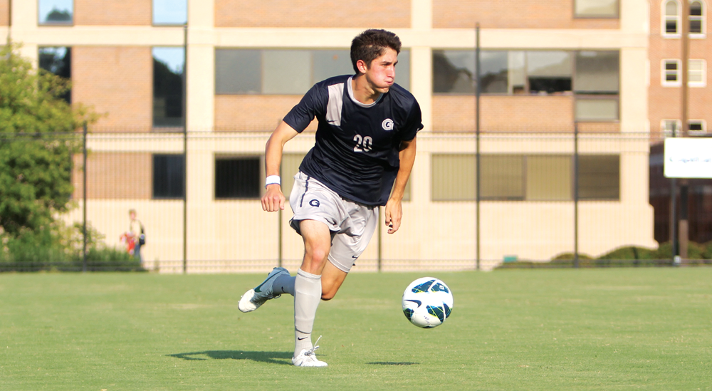FILE PHOTO: CHRIS GRIVAS/THE HOYA Senior Andy Riemer scored two goals in Georgetown's win over UIC.