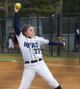 FILE PHOTO: ALEXANDER BROWN/THE HOYA Sophomore starting pitcher Lauren O'Leary pitched her fourth straight complete game against Princeton on Wednesday.