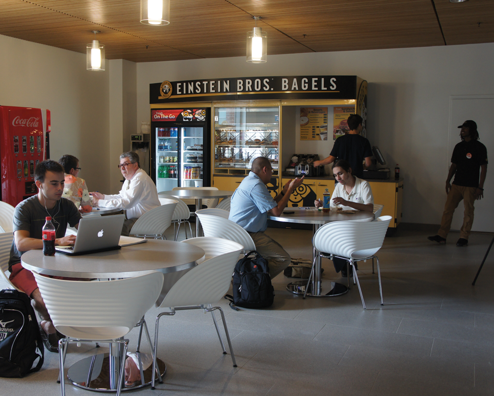 RICHARD OLIVEIRA SOENS FOR THE HOYA The new bagel shop is not expected to compete with The Corp's Uncommon Grounds in Leavey Center.