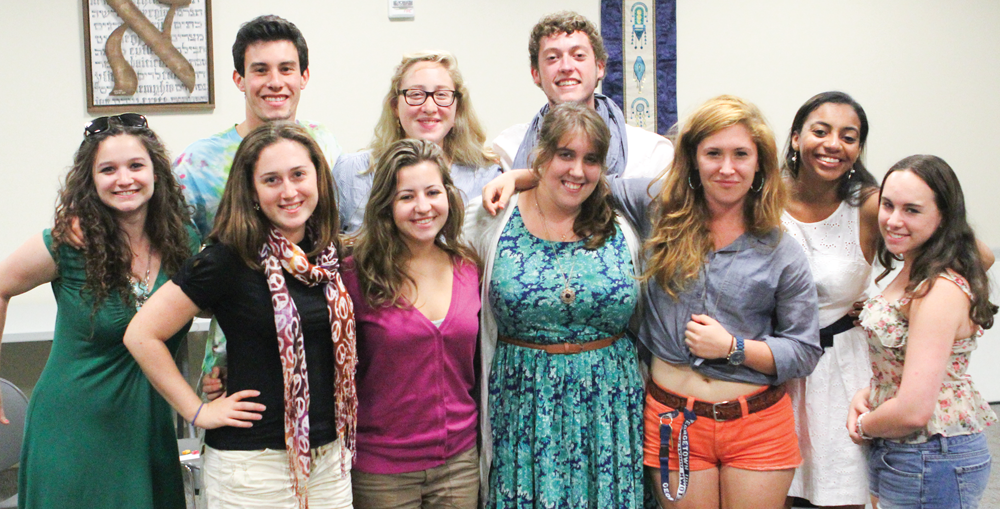 ZACH GORDAN/THE HOYA The Jewish Student Association Board was instrumental to the approval of the new Living Learning Community.