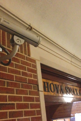 CONNOR BERNSTEIN/THE HOYA Security cameras at Hoya Snaxa and Vital Vittles have helped alleviate theft problems at Corp locations.