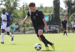 Sophomore midfielder Tom Skelly scored the game-winner Tuesday. FILE PHOTO: CHRIS GRIVAS/THE HOYA