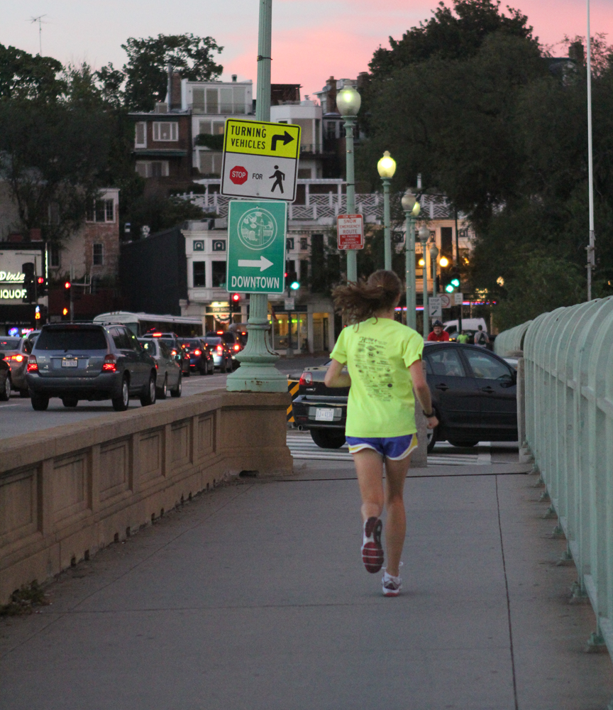 SARI FRANKEL/THE HOYA ON YOUR MARK, GET SET, GO | Whether they race in packs or train alone, Georgetown students can be found running on tracks, trails and stairways around the city.
