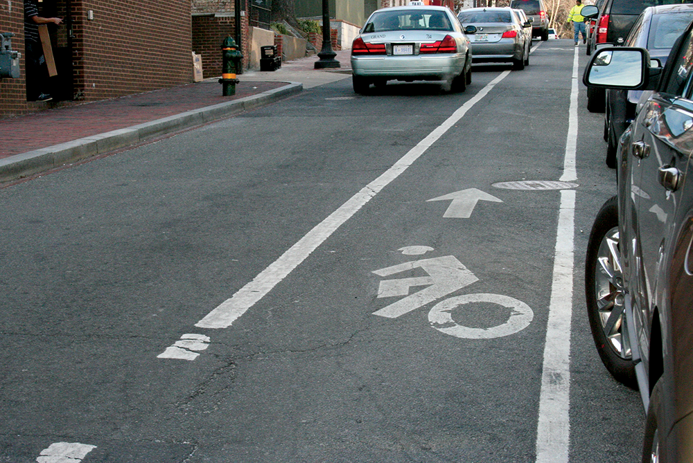 KAYLA NOGUCHI/THE HOYA A delayed bike lane for M St. would not extend into the Georgetown area.