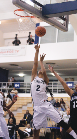 Senior Tia Magee scored 10 points in the final game of her college career. FILE PHOTO: CHRIS BIEN/THE HOYA