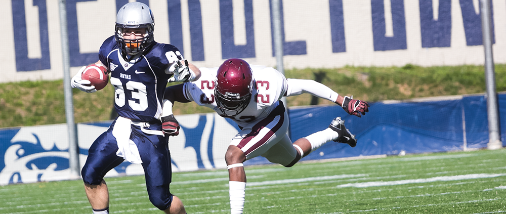 FOOTBALL | Hoyas Can't Establish Ground Game, Lose 34-14