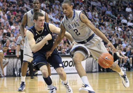 FILE PHOTO: CHRIS BIEN Freshman forward Greg Whittington and the Hoyas head to Marquette tomorrow in a showdown for the No. 2 seed in the Big East tournament.