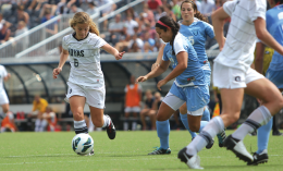 FILE PHOTO: CHRIS GRIVAS/THE HOYA Sophomore Daphne Corboz had five goals and one assist Sunday.