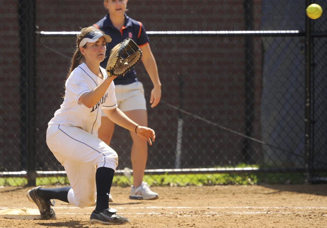 COURTESY GEORGETOWN SPORTS INFORMATION Junior first baseman Cara Savarese struggled at the plate yesterday, going 0-3 in Georgetown's 8-4 loss.