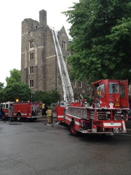 Small Fire in Copley Hall