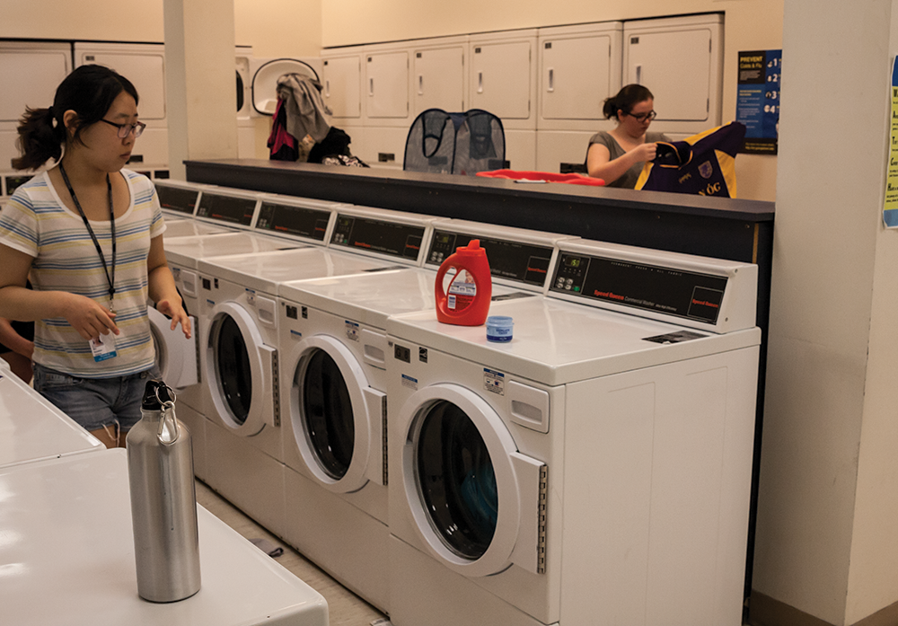 MICHELLE XU/THE HOYA The Office of Facilities and GUSA will launch LaundryAlert, an app that shows which machines are in use and offers alerts about specific machines, in late November.