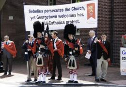 Sebelius Speech Brings Heckler, Protest