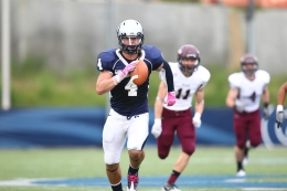 Courtesy Georgetown Sports Information Senior linebacker Robert McCabe had 17 tackles against Davidson.