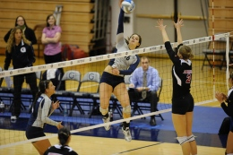 Courtesy Georgetown Sports Information Sophomore outside hitter Alex Johnson was named to the Tribe Invitational all-tournament team.