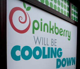 Hannah Hill/The Hoya Pinkberry, a frozen yogurt shop, is one of the many businesses opening on M Street this fall.
