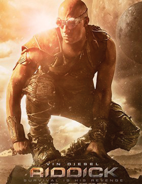COLUMBIA PICTURES Vin Diesel reprises his role as sci-fi hero Richard B. Riddick.