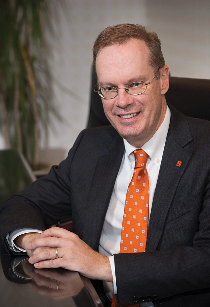 COURTESY STEVE SARTORI Kent Syverud (SFS '77) was recently appointed the 12th chancellor and president of Syracuse University.