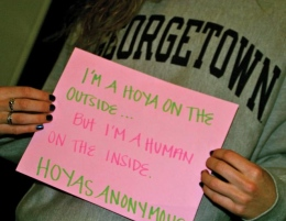 Hoyas Anonymous Sharing Secrets, Changing Campus Culture