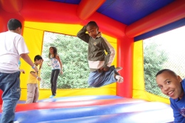 Tutees Bounce Around Campus at Spring Fling