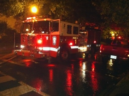 Fire Breaks Out in Burleith