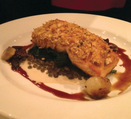 JERROD MACFARLANE FOR THE HOYA FANCY FRENCH FLAVOR In addition to meals like mustard-crusted Atlantic salmon on its regular menu, Ris offers a delectable list of daily specials.