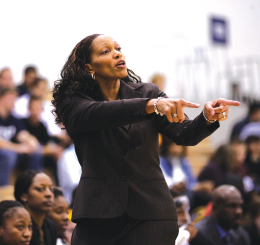 FILE PHOTO: CHRIS BIEN/THE HOYA Terri Williams-Flournoy, pictured during the 2011-2012 season, led Georgetown back to national prominence during eight seasons here.
