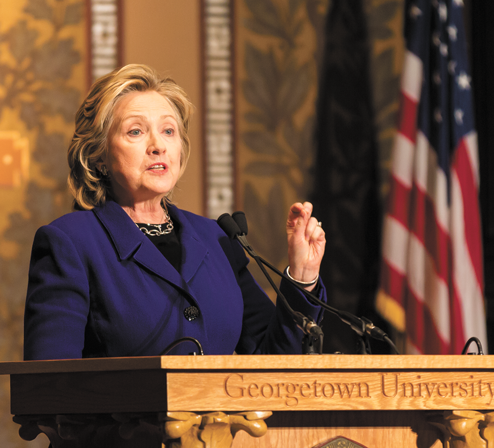 Clinton Honors Men Working for Gender Equality