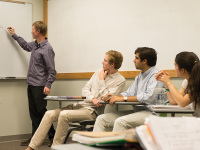 COURTESY DEPARTMENT OF FRENCH Mark Adamsson (SFS '15), second from left, was admired by his French professor for sitting in the front row of class and actively participating in discussion, displaying motivation and a flair for languages.