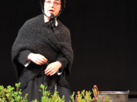 """OLIVIA HEWITT/THE HOYA  Maddie Kelley (COL '16) gives a great performance as Sister Aloysius in """"Doubt: A Parable"""" directed by Professor Maya E. Roth, perfectly capturing her intensity"""