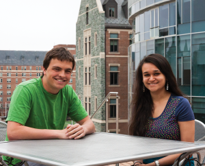 MICHELLE XU/THE HOYA GUSA President Trevor Tezel (SFS '15) and Vice President Omika Jikaria (SFS '15)  reflect on their experiences and look forward to senior year.