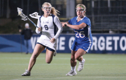 WOMEN'S LACROSSE | Georgetown Offense Explodes Against Eagles