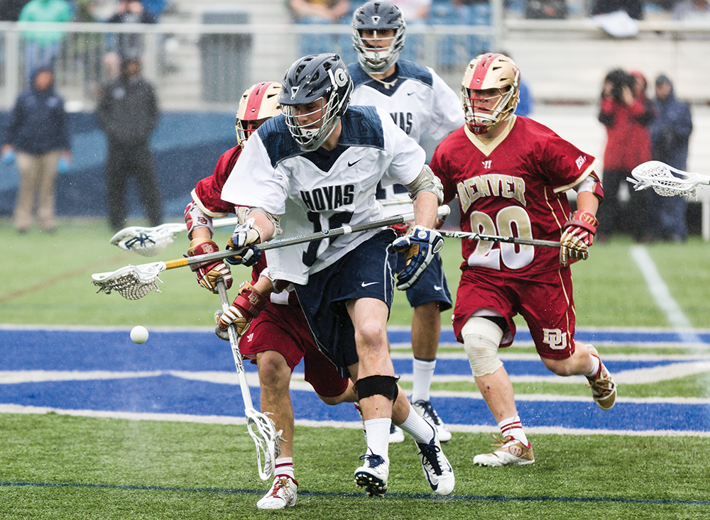 MEN'S LACROSSE | No. 6 Denver Overwhelms Georgetown in Rout