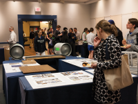 MICHELLE XU/THE HOYA Interested students browsed potential designs and food at a forum introducing Bon Appetit as the new vendor for the pub in HFSC.