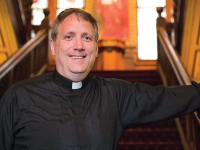 ALEXANDER BROWN/THE HOYA Fr. Patrick Rogers, S.J., the director of Catholic chaplaincy, will leave Georgetown in June to enter the Jesuit tertianship program.