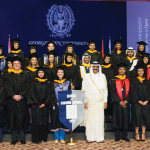 COURTESY WALEED KHAN Forty-seven seniors received diplomas from SFS-Qatar on Saturday.