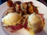 COURTESY YIWEN HU  Eggs Benedict at Tabard Inn Restaurant