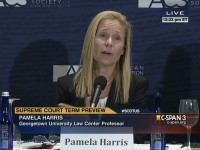 C-SPAN  Pamela Harris, giving a preview of the 2013-2014 Supreme Court term.