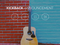 COURTESY STUDENTS OF GEORGETOWN INC. Kickback's website displays a countdown clock to the July 8 official announcement.