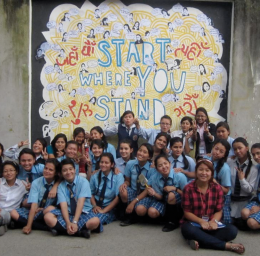 Courtesy of Claire Charamnac BIG DREAMS | Naylor and Charamnac help provide young women in Kathmandu, Nepal, with opportunities in leadership and entrepreneurship through Women LEAD.