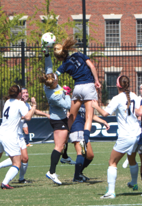 Claire Soisson/THE HOYA Junior midfielder Marina Paul assisted Georgetown's second goal.