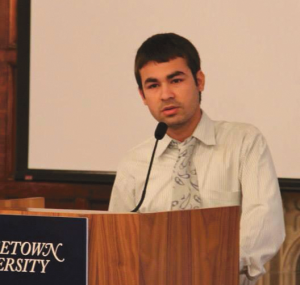 COURTESY INDRA ACHARYA Indra Acharya (COL '18), who grew up as a refugee in Nepal, is now a freshman at Georgetown, running for the GUSA senate.