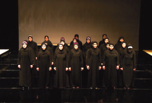 "COURTESY LYNN ALLEVA LILLEY The refugees who perform ""Syria: Trojan Women"" were denied visas to the United States, cancelling their performance at Georgetown."
