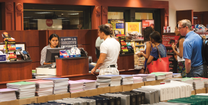 MICHELLE XU/THE HOYA Georgetown's campus bookstore, which possesses an exclusive contract with Follett Corporation, has introduced rental and buyback programs to combat the challenge posed by alternative, affordable online vendors.