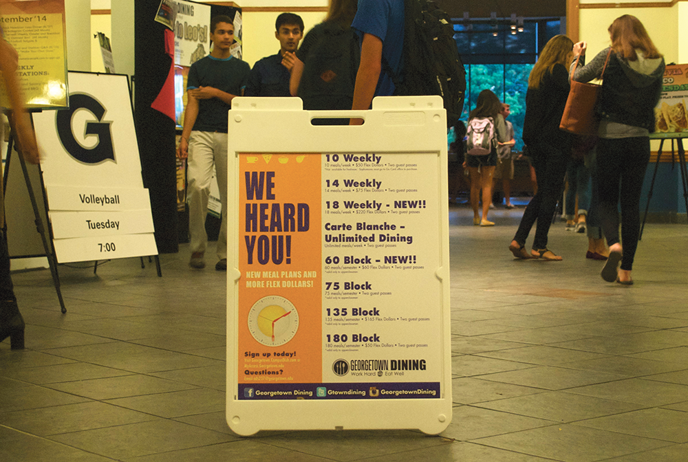 julia hennrikusthe hoya leos advertises changes to its meal plans and flex dollars for