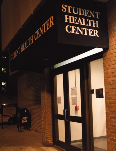 MICHELLE XU/THE HOYA The Student Health Center remained open until 2 a.m. early Friday to provide antibiotics to students after the university's announcement.